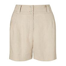 Buy John Lewis Pleat Front Linen Shorts Online at johnlewis.com