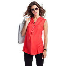 Buy Isabella Oliver Lottie Sleeveless Maternity Top, Coral Online at johnlewis.com