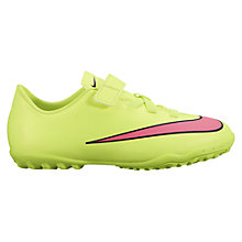 Buy Nike Mercurial Victory V Turf Football Boots, Neon Green Online at johnlewis.com