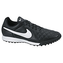 Buy Nike Children's Tiempo Genio Sports Trainers, Black Online at johnlewis.com