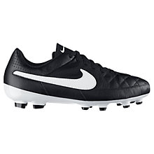 Buy Nike Children's Tiempo Genio Football Trainers, Black Online at johnlewis.com