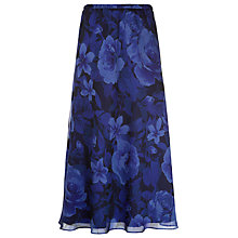 Buy Jacques Vert Rose Jacquard Skirt, Cobalt Online at johnlewis.com