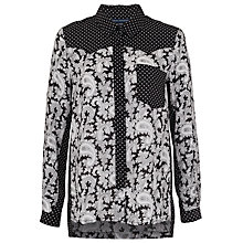Buy French Connection Paisley Party Drape Shirt, Multi Online at johnlewis.com