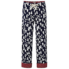 Buy White Stuff Slumberland Bear Pyjama Bottoms, Dark Blueberry Online at johnlewis.com