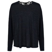 Buy French Connection Jilly Metallic Top, Utility Blue Online at johnlewis.com