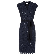 Buy Jacques Vert Sequin Lace Dress, Navy Online at johnlewis.com