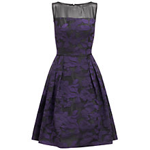 Buy Adrianna Papell Pleated Fit and Flare Dress, Purple/Black Online at johnlewis.com