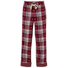 Buy White Stuff Bear Jacquard Pyjama Bottoms, Berry Sorb Online at johnlewis.com