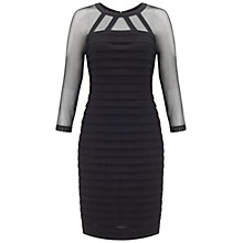 Buy Adrianna Papell Raglan Illusion Sheath Dress, Black Online at johnlewis.com