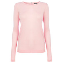Buy Warehouse Mini Zip Back Crew Knit Top Online at johnlewis.com