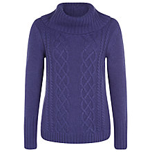 Buy Kaliko Cable Knit Jumper, Blueberry Online at johnlewis.com