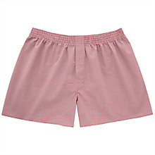 Buy Thomas Pink Fabian Check Boxers, Red Online at johnlewis.com