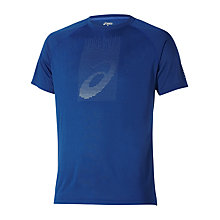 Buy Asics Soukai Graphic Logo Crew Neck T-Shirt, Blue Online at johnlewis.com