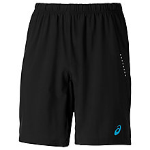 "Buy Asics 9"" Woven Running Shorts, Black Online at johnlewis.com"