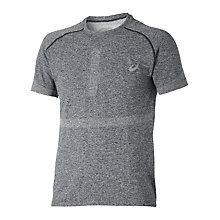 Buy Asics Seamless Short Sleeve T-Shirt, Grey Online at johnlewis.com