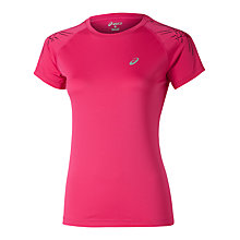 Buy Asics Women's Stripe Running Short Sleeve T-Shirt Online at johnlewis.com