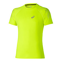 Buy Asics Stripe Running Short Sleeve T-Shirt Online at johnlewis.com