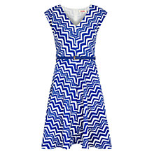 Buy Louche Chevron Dress, Blue/White Online at johnlewis.com