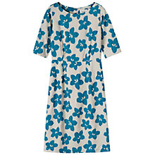Buy Toast Natsumi Flower Print Dress, Blue/Eggshell Online at johnlewis.com