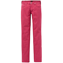 Buy Lee Marion Straight Jeans, Framboise Online at johnlewis.com
