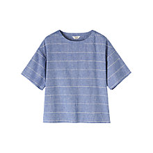 Buy Toast Riva Chambray Stripe Top, Chambray Online at johnlewis.com
