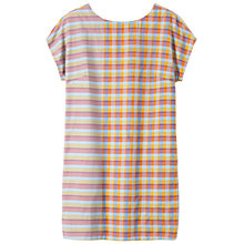Buy Toast Luce Check & Stripe Dress, Pale Orange/Pink/Chambray Blue Online at johnlewis.com