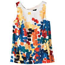 Buy Toast Ariane Print Top, White / Multi Online at johnlewis.com