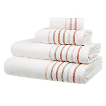 Buy John Lewis Croft Collection Rice Weave Linen Border Towels Online at johnlewis.com