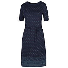 Buy Fat Face Lace Collar Woodblock Dress, Navy Online at johnlewis.com