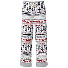 Buy White Stuff Fairisle Print Pyjama Bottoms, Iced Frappe Online at johnlewis.com