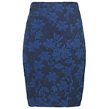 Buy Fat Face Jacquard Tube Skirt, Dark Chambray Online at johnlewis.com
