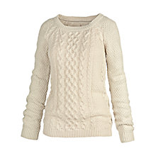 Buy Fat Face Campbell Cable Crew Neck Jumper Online at johnlewis.com