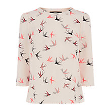 Buy Oasis Liner Swallow Top, Light Neutral Online at johnlewis.com