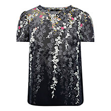 Buy Oasis Falling Willow Blossom Top, Multi Online at johnlewis.com