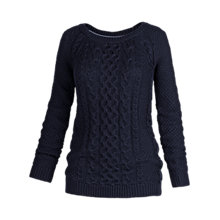 Buy Fat Face Campbell Cable Jumper, Navy Online at johnlewis.com