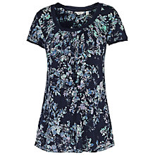 Buy Fat Face Crochet Trim Spray T-Shirt, Navy Online at johnlewis.com