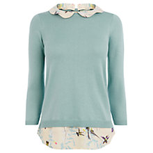 Buy Oasis Hummingbird 2 in 1 Jumper, Green Online at johnlewis.com