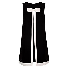 Buy Ted Baker Bow Detail Swing Dress, Black/White Online at johnlewis.com