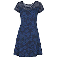 Buy Fat Face Paignton Jacquard Jersey Dress, Chambray Online at johnlewis.com