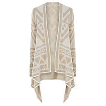 Buy Oasis Aztec Cardigan, Camel Online at johnlewis.com