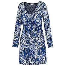 Buy Fat Face Windsor Spray Floral Tunic, Dark Chambray Online at johnlewis.com