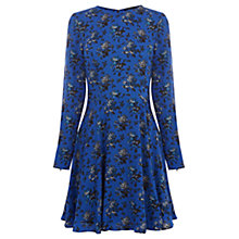 Buy Oasis Felted Floral Dress, Blue Online at johnlewis.com