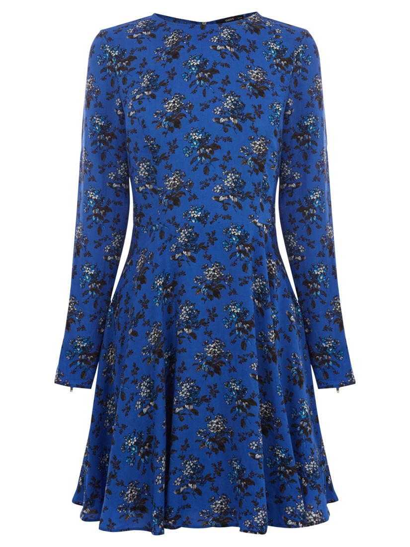 oasis felted floral dress blue, oasis, felted, floral, dress, blue, 12|10, special offers, womenswear offers, 30% off selected oasis, women, womens dresses, womens dresses offers, 1771193