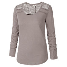 Buy Fat Face Lula Lace Long Sleeve T-Shirt Online at johnlewis.com