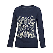 Buy Fat Face Orkney Folkloric Jumper, Navy/White Online at johnlewis.com