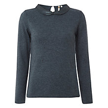 Buy White Stuff Bejewelled Jumper, Smoky Teal Online at johnlewis.com