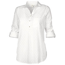 Buy Fat Face Harlow Collar Popover Blouse, White Online at johnlewis.com