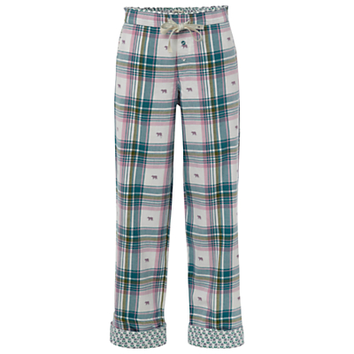 White Stuff Jacquard Check Pyjama Bottoms, Tuscan