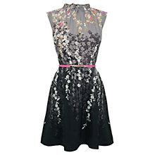 Buy Oasis Falling Willow High Neck Dress, Multi Online at johnlewis.com