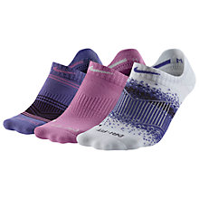 Buy Nike Dri-Fit Graphic Tab No Show Socks, Pack of 3 Online at johnlewis.com